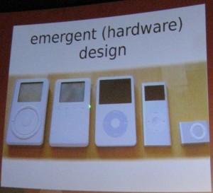 le design émergent de l'ipod