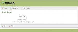 Exemple de fiche pour un contact