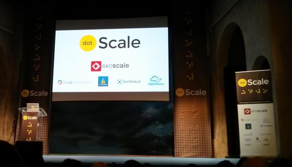 Écran d'accueil à dotScale 2014