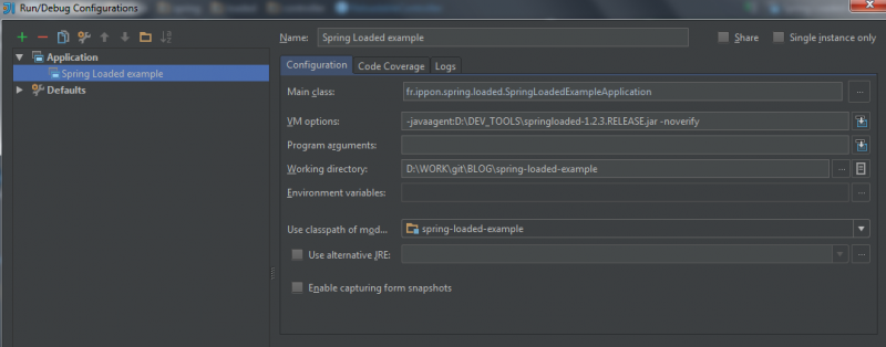 Configuration - Intellij IDEA