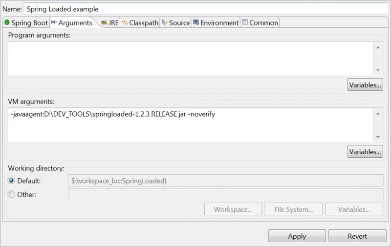 Spring Tool Suite - Configuration