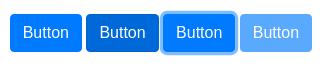 Le bouton de Bootstrap avec les états : normal, hover, focus, disabled